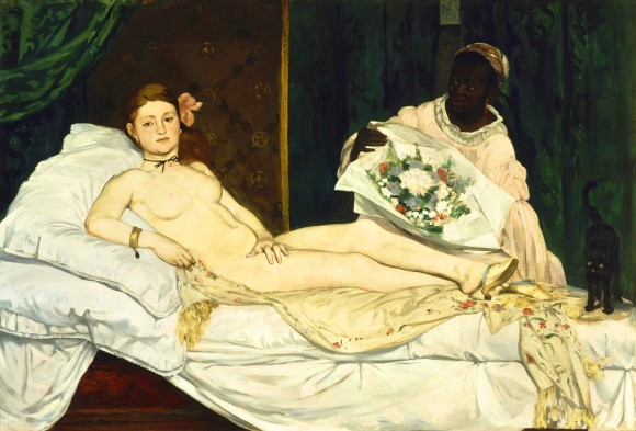 Edouard Manet   Olympia   Google Art Project  1863 580x393 De intrigerende vrouwen van Edouard Manet